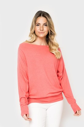 Gibson Cozy Fleece Off Shoulder Tunic