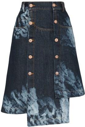 Delada Asymmetric Tie-Dye Skirt
