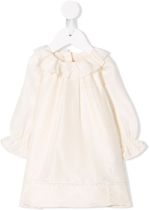 Bonpoint ruffled collar dress