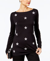 INC International Concepts Anna Sui Loves Embellished Stars Top, Created for Macy's