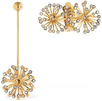 Ca&Lou Flora Asymmetrical Earrings W/ Crystals