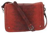 B. Makowsky Leather East/West Flap Crossbody Bag w/ Organization
