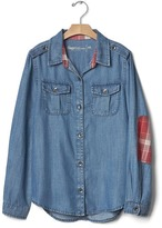 Gap GapKids + Pendleton chambray patch tunic
