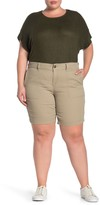 SUPPLIES BY UNION BAY Nadeen Stretch Twill Bermuda Shorts (Plus Size)