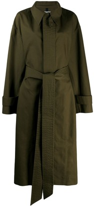 AMI Paris Oversized Belted Trench Coat