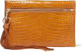Elizabeth and James Scott croc-effect leather clutch