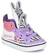 Feiyue DELTA MID ANIMAL White / Black / Purple
