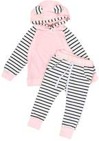 Susenstone 2pcs Newborn Infant Baby Clothes Hooded T-shirt Tops+Pants Outfits Set