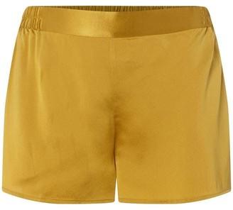 Ginia Contrast Silk Shorts