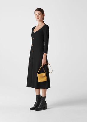 Button Detail Jersey Dress