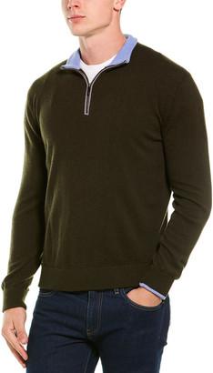 Greyson Sebonack Wool & Cashmere-Blend 1/2-Zip Mock Sweater