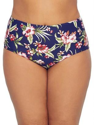 Birdsong Plus Size Hibiscus Bloom Bikini Bottom