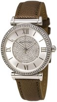 Michael Kors MK2377 Women's Caitlin Crystal Pave MOP Dial Grey Leather Strap Watch