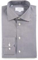 Eton Men's Slim Fit Houndstooth Dress Shirt