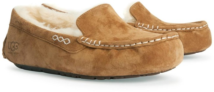 7b71df32fc8 Ansley Chestnut Suede Slippers