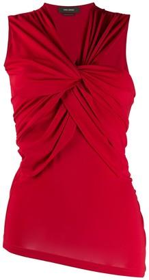 Isabel Marant Sleeveless Twist Front Blouse