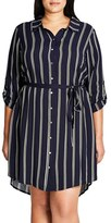 City Chic Plus Size Women's Vintage Stripe Tunic