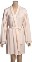 Linda Hartman Short Knit Robe - Silk-Cotton (For Women)