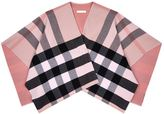 Burberry Checked Blanket Cape