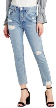 Sam Edelman Denim Sam Edelman The Stiletto Cotton Ripped Straight-Leg Jeans