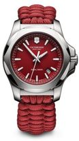 Victorinox Stainless Steel Paracord Bracelet Watch