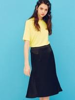 Back Frill Skirt Black