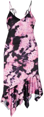 Marques Almeida Tie-Dye Slip Dress