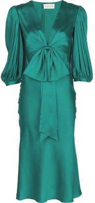 Sachin + Babi Joanna tied front satin dress