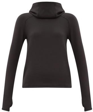 Paco Rabanne Logo-jacquard Modal-blend Hooded Sweatshirt - Black