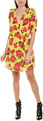 The Kooples Pivoine In Love Silk Mini Dress