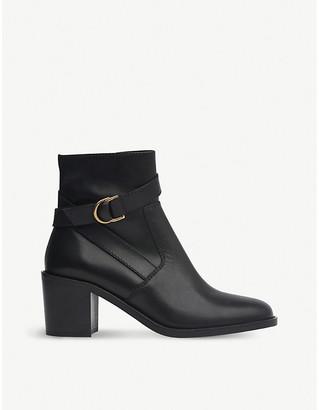 LK Bennett Miran leather heeled ankle boots