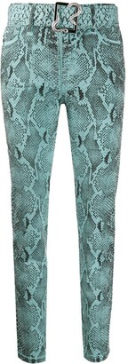 Just Cavalli Snakeskin Print Skinny Jeans