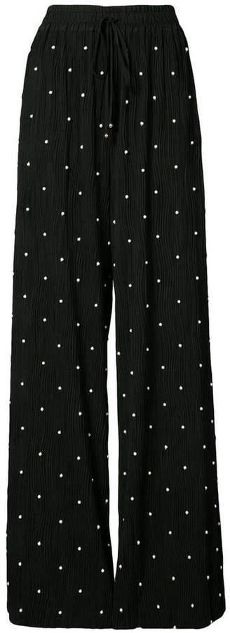 Prabal Gurung pearl embroidered trousers