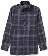 Daniel Cremieux Signature Long-Sleeve Slim-Fit Heather Plaid Woven Shirt