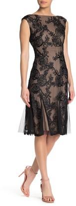 Marina Sleeveless Godet Flared Hem Dress