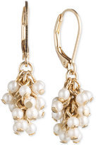 lonna & lilly Gold-Tone Imitation Pearl Cluster Drop Earrings