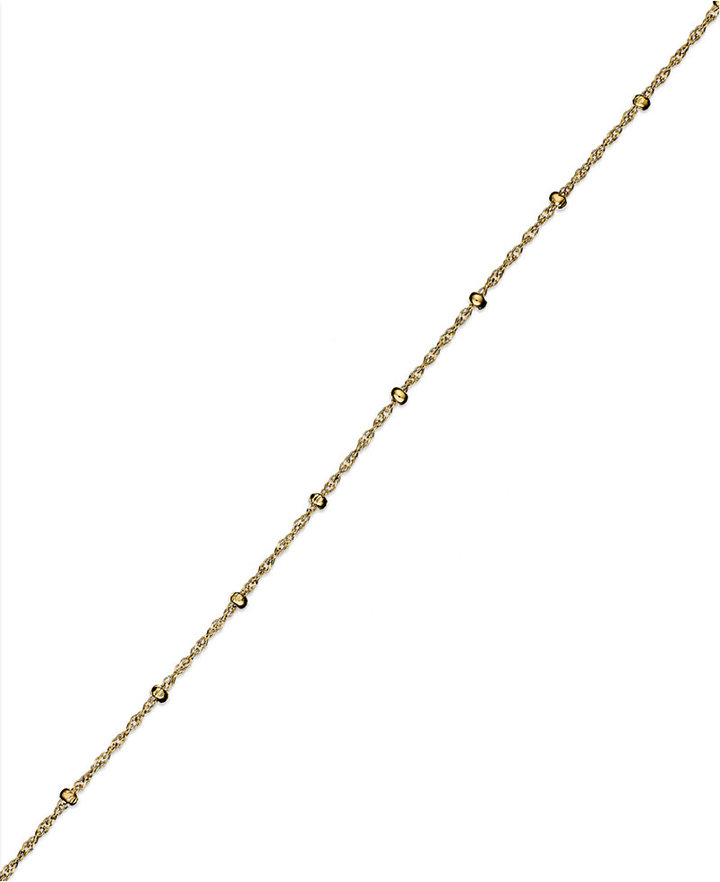 """Giani Bernini 24k Gold over Sterling Silver Anklet, 9"""" Singapore Chain Anklet"""