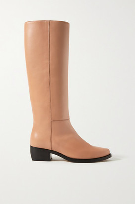 LEGRES Leather Knee Boots - Tan
