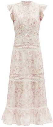 Sir. Caprice Ruffled Floral-print Cotton Dress - White Print