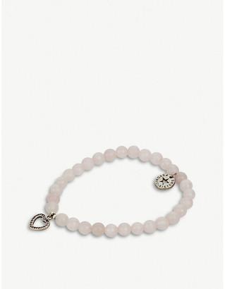 PSYCHIC SISTERS Heart rose quartz bracelet