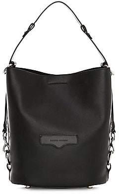 Rebecca Minkoff Women's Utility Convertible Leather Bucket Bag