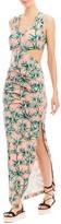 Nicole Miller Sunset Palms Maxi Dress