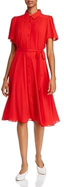 Nanette Lepore Nanette nanette Pintucked Flutter-Sleeve Dress