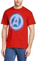 Marvel Men's Avengers Assemble Glowing Logo Short Sleeve T-Shirt