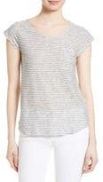 Soft Joie Women's Elira Stripe Linen Blend Tee