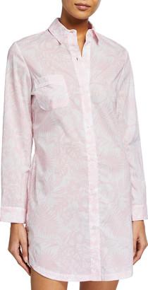 Derek Rose Ledbury 42 Printed Cotton Sleepshirt