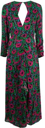 Rixo Floral Print Cut-Out Detail Dress