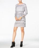 Armani Exchange Long-Sleeve Printed Dress