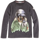 Moncler Boys' Ski Wolf Graphic Tee - Sizes 4-6