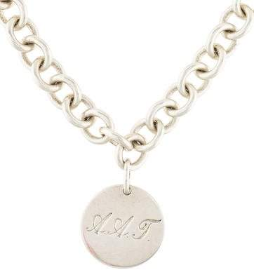 Tiffany & Co. Round Tag Pendant Necklace